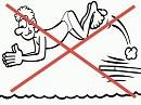 nage interdite